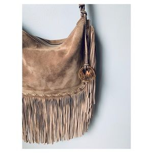 9c2e111a8494d1 Michael Kors Dakota Fringe Suede Leather Bag
